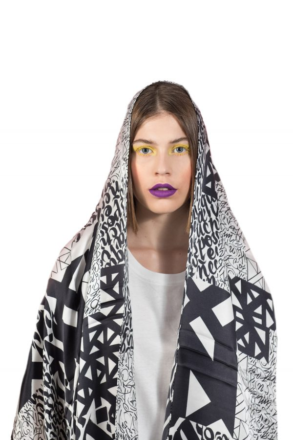 Silk scarf A Callimetric Space | MANTILITY | 70x200cm