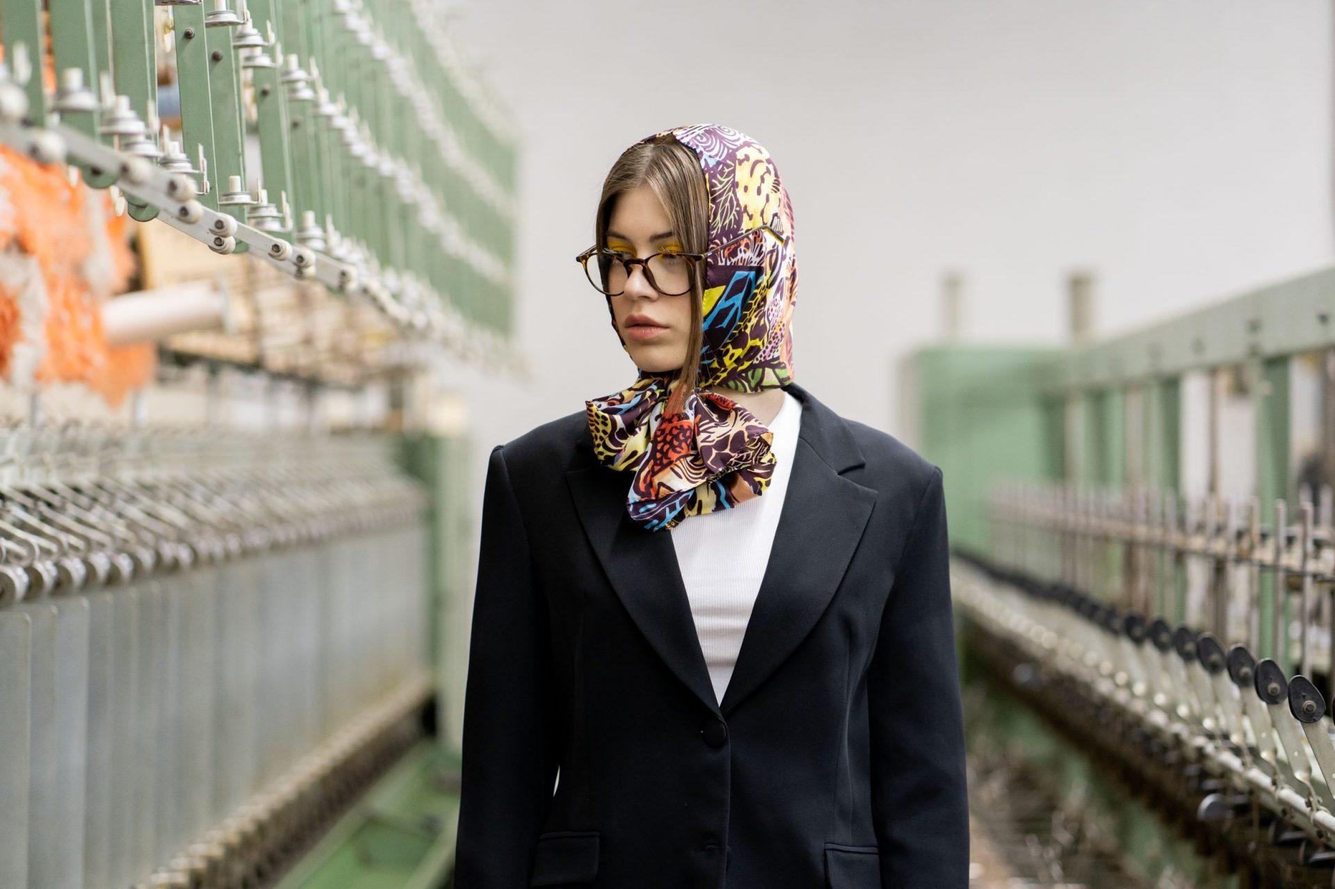 Silk scarf Japan | MANTILITY | 35x155cm | Women