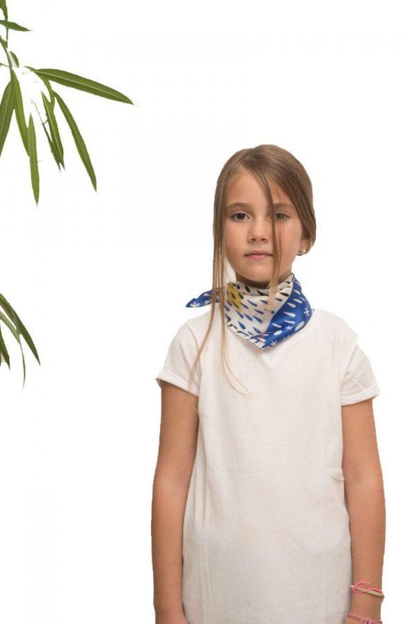 Silk scarf Saving the Fish | MANTILITY | 45x45cm | Kids