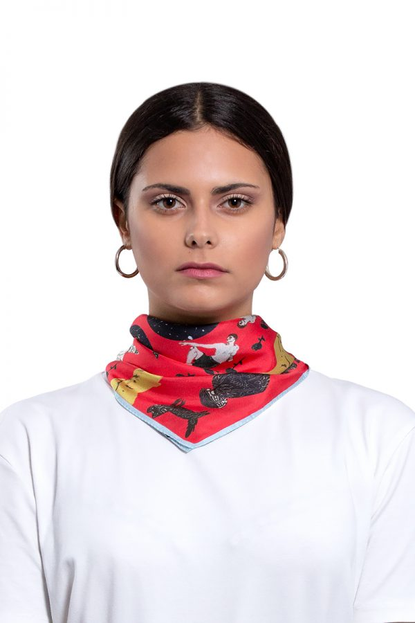 Silk Scarf Make Some Noise | MANTILITY | 45x45cm