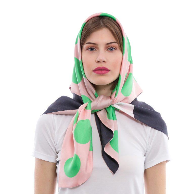 Silk scarf Un Japonais en Grèce: April | MANTILITY Double 90x90cm