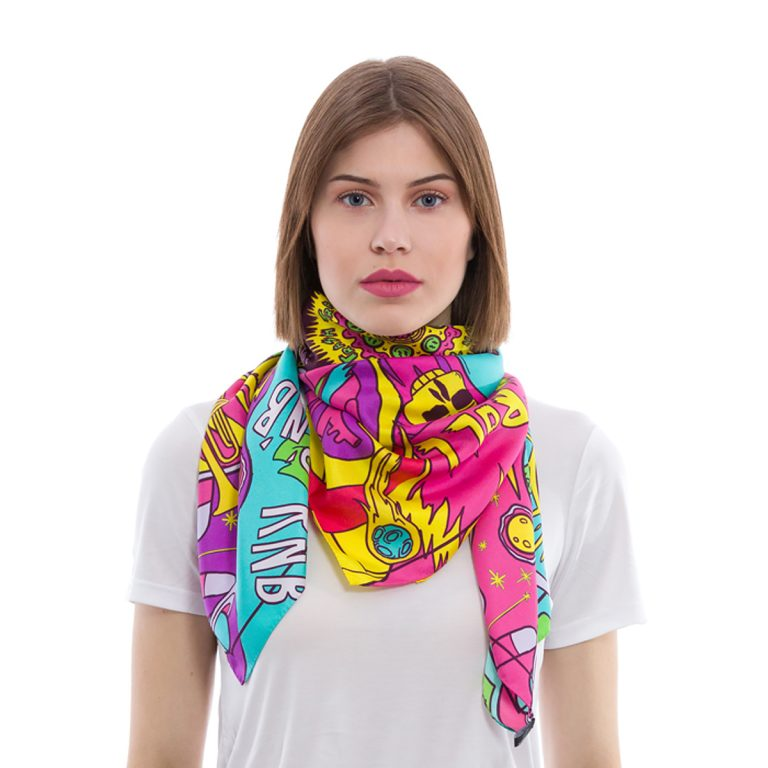 Silk Scarf Planet Music | MANTILITY | 90x90cm