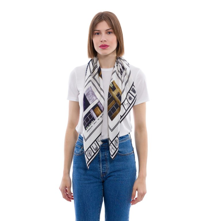 Silk Scarf Houses of Kards - Ode to Square | MANTILITY | Fidanis
