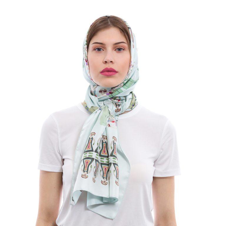 Silk scarf Keep Silent | MANTILITY | 70x200 breeze
