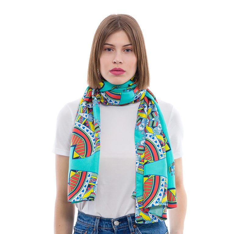 Silk scarf The King of Hearts | MANTILITY | 70x200