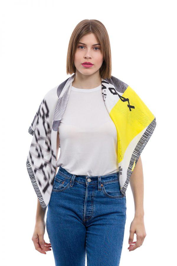 Silk scarf Bacchic Rave MANTILITY 90x90