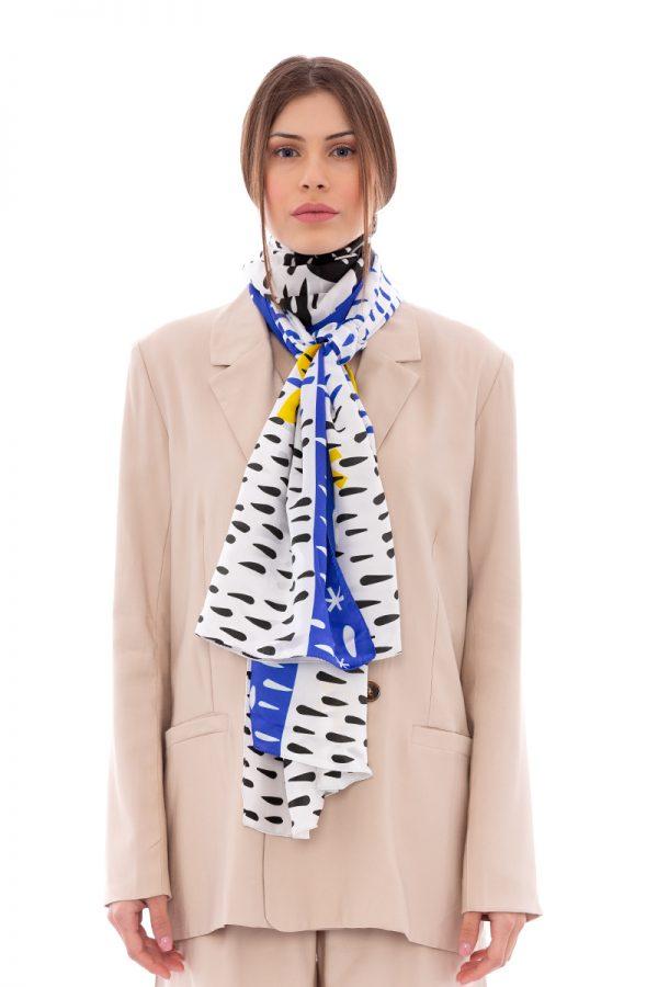 Silk scarf Saving the Fish | MANTILITY | 70x200cm