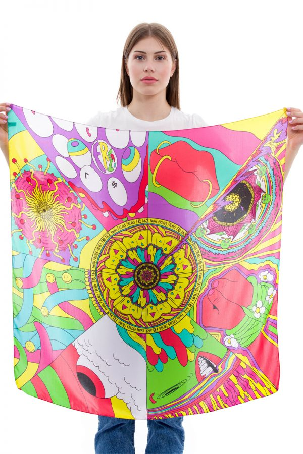 Silk Scarf Freaks | MANTILITY | Anonymous | 90x90cm