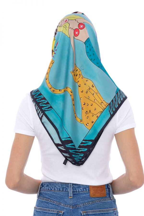 Silk Scarf The Equilibrists 90x90cm