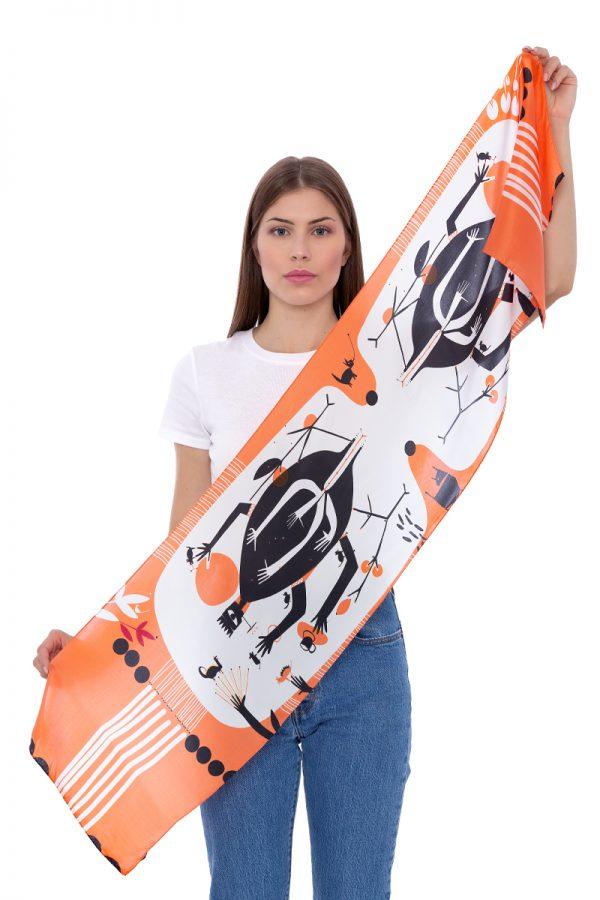 Silk scarf My chaos   MANTILITY  35x155cm