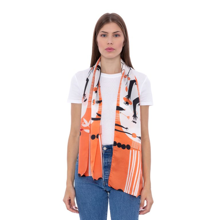 Silk scarf My chaos | MANTILITY |35x155cm