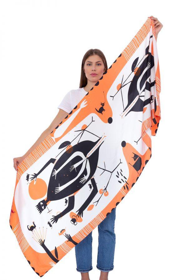 Silk scarf My chaos | MANTILITY |70x200cm