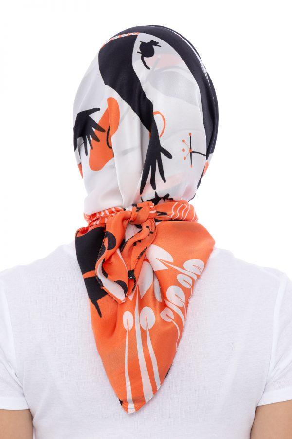 Silk scarf My chaos   MANTILITY   90x90 cm