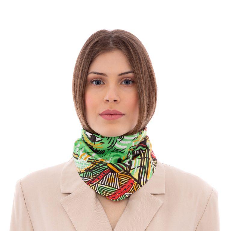 Silk Scarf Africa by Sigma Gamma | MANTILITY